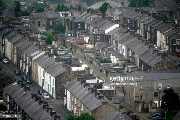 General view of homes in Colne, Lancashire on July 17, 2020 in Colne, England. Blackburn with Darwen Council have imposed local restrictions, with...