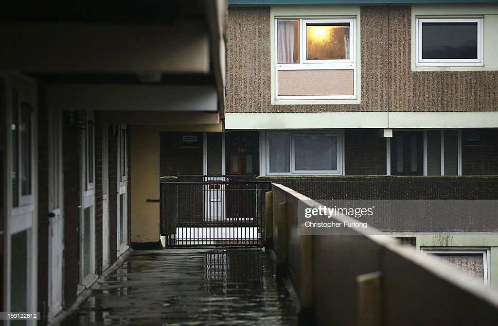 A general view of homes on the Falinge Estate, which has been surveyed as the most deprived area in England for a fifth year in a row, on January 8, 2013 in Rochdale, England. According to data provided by the Department for Communities and Local Government, 72 per cent of people in the local area are unemployed and seven per cent have never had a job. Four out of five children on the estate are living in poverty, with the area having one of the highest teenage pregnancy rates in the country. During today's House of Commons debate, the government urged MPs to back their planned 1 per cent cap on annual rises in benefits and some tax credits for three years from next April. Benefits for people of working age have historically risen in line with the rate of inflation.
