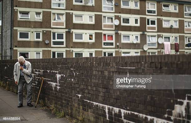 A general view of homes on the Falinge Estate which has been surveyed as one the most deprived areas in England for five years in a row on August 06...