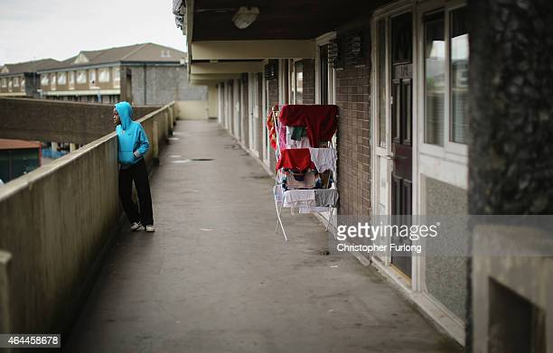 A general view of homes on the Falinge Estate which has been surveyed as one the most deprived areas in England for five years in a row on August 6...