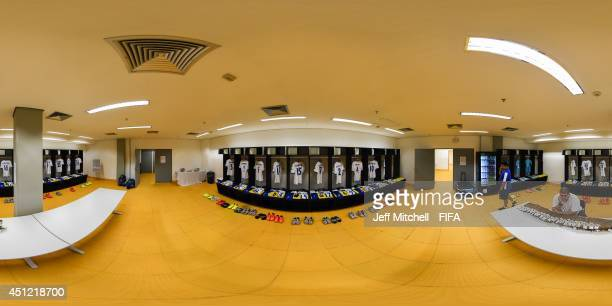 A general view of Honduras dressing room before the 2014 FIFA World Cup Brazil Group E match between Honduras v Switzerland at Arena Amazonia on June...