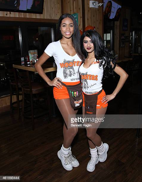 General view of Hooters girls at Hooters Manhattan VIP Press Party at Hooters Manhattan on January 15, 2015 in New York City.
