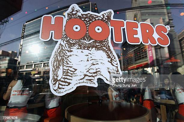 A general view of Hooters restaurant on January 12 2007 in Seoul South Korea The famous US restaurant is preparing to open for the first time in...