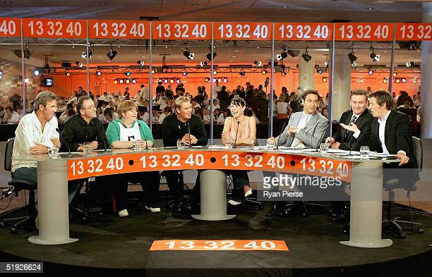 A general view of hosts in the call centre during the Reach Out To Asia Telethon at the Telstra Dome on January 8 2005 in Melbourne Australia
