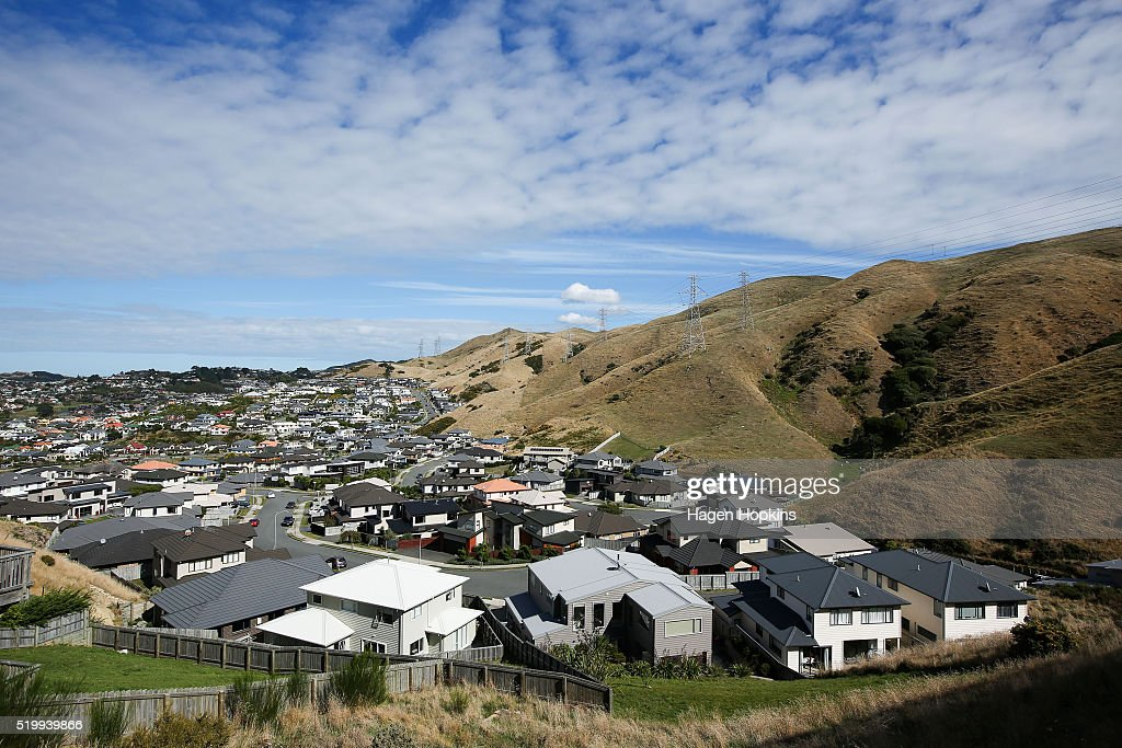 A general view of houses in the suburb of Churton Park on April 9, 2016 in Wellington, New Zealand. Increased demand for property in Wellington has seen house prices increase by 7.5 per cent in the past year. The average value of a house in the Wellington region is now $491,236, up 3.1 per cent over the past three months.