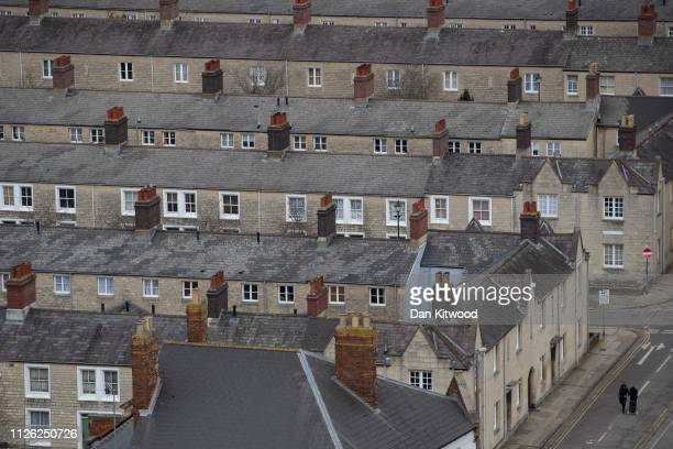 A general view of Housing known as the Railway Village on February 20 2019 in Swindon England The area once housed the workers of the GWR but now...
