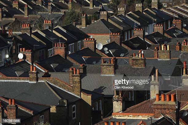 A general view of housing near Clapham on January 30 2013 in London England According to a report from independent analysts Oxford Economics the...