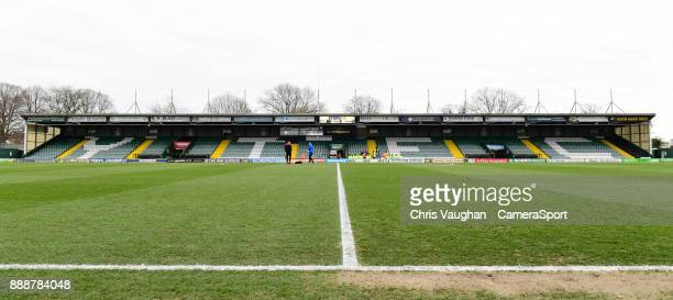 A general view of Huish Park home of Yeovil Town FC prior to the Sky Bet League Two match between Yeovil Town and Lincoln City at Huish Park on...
