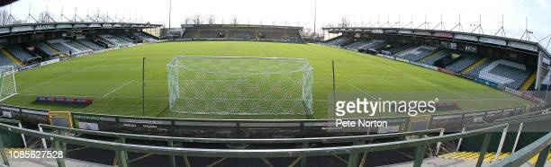 A general view of Huish Park prior to the Sky Bet League Two match between Yevoil Town and Northampton Town at Huish Park on December 22 2018 in...