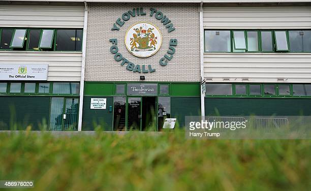 General view of Huish Park prior to the Sky Bet League Two match between Yeovil Town and Morecambe at Huish Park on September 5 2015 in Yeovil England