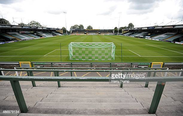 General view of Huish Park prior to the Sky Bet League Two match between Yeovil Town and Morecambe at Huish Park on September 5, 2015 in Yeovil,...