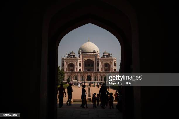 General view of Humayun's Tomb ahead of the FIFA U17 World Cup India 2017 tournament at on October 6 2017 in New Delhi India