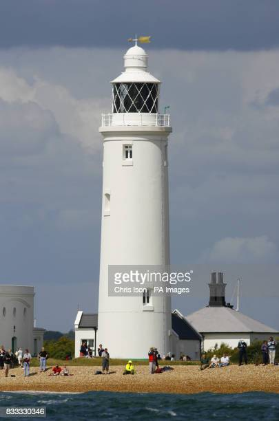 General view of Hurst Light House on the peninsular at Hurst in the New Forest The neighbouring fort and light guard the western approach into The...