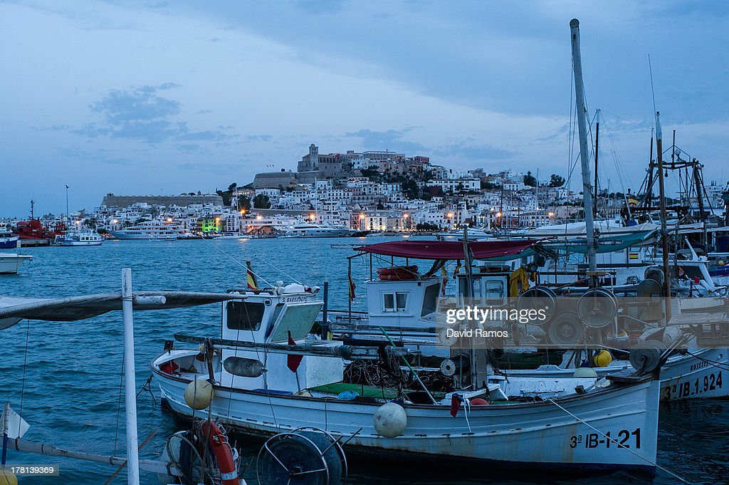 A general view of Ibiza old town at dusk on August 22, 2013 in Ibiza, Spain. The small island of Ibiza lies within the Balearics islands, off the coast of Spain. It has, for many years, had a reputation as a party destination. Each year thousands of young people gather to enjoy not only the hot weather and the beaches but also the array of clubs with international DJ's playing to vast audiences. Ibiza has also gained a reputation for drugs and concerns are now growing that the taking and trafficking of drugs is spiralling out of control.