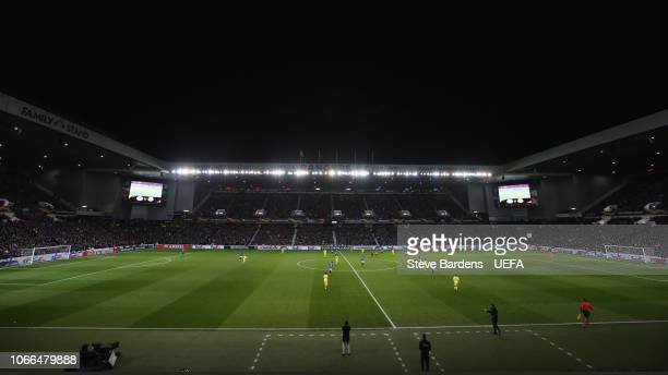 General view of Ibrox during the UEFA Europa League Group G match between Rangers and Villarreal CF at Ibrox Stadium on November 29 2018 in Glasgow...
