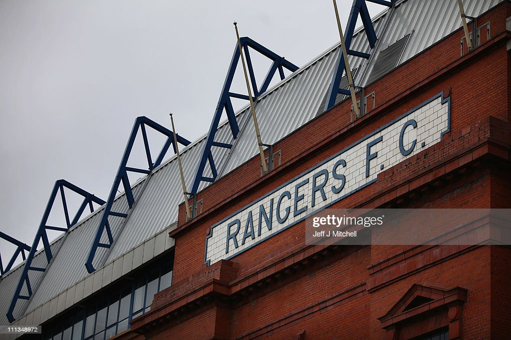Rangers FC's Stadium Ibrox As The Club Announces Its Interim Finance Results : News Photo