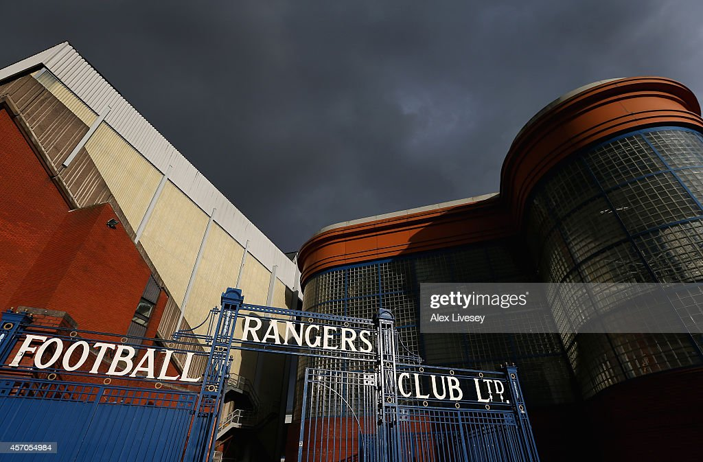 A general view of Ibrox Stadium is seen ahead of the EURO 2016 Qualifier match between Scotland and Georgia at Ibrox Stadium on October 11, 2014 in Glasgow, Scotland.