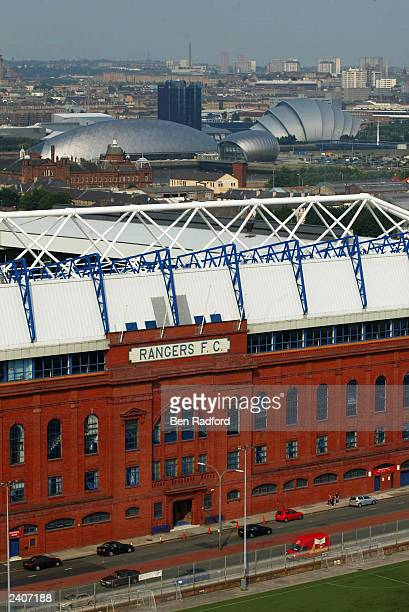 A general view of Ibrox Stadium prior to the preseason friendly match between Rangers and Arsenal at Ibrox on August 5th 2003 in Glasgow Scotland