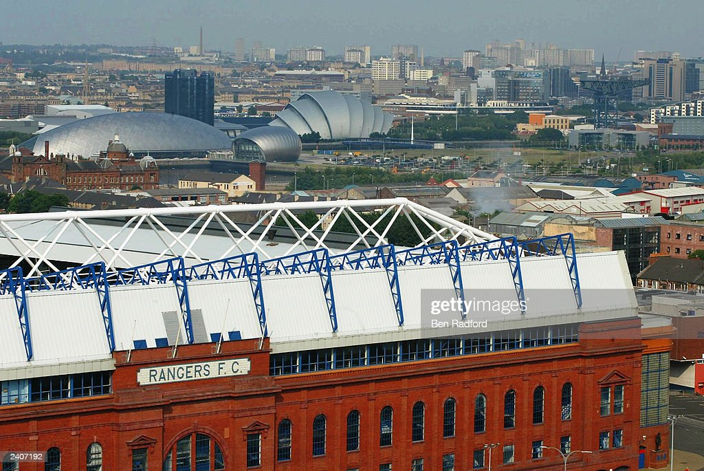 A general view of Ibrox Stadium : News Photo