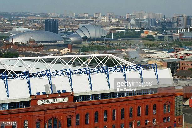 General view of Ibrox Stadium prior to the pre-season friendly match between Rangers and Arsenal at Ibrox on August 5th, 2003 in Glasgow, Scotland.