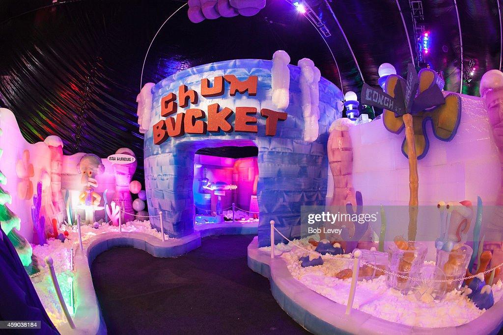 Ice Sculptures With Spongebob SquarePants At Moody Gardens On November 15,  2014 In Galveston,