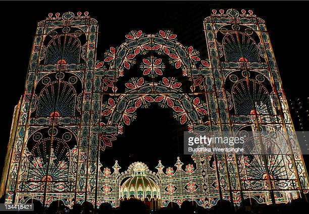 A general view of illuminations during the Kobe Luminarie annual event on December 1 2011 in Kobe Japan The Luminarie festival is held in memory of...