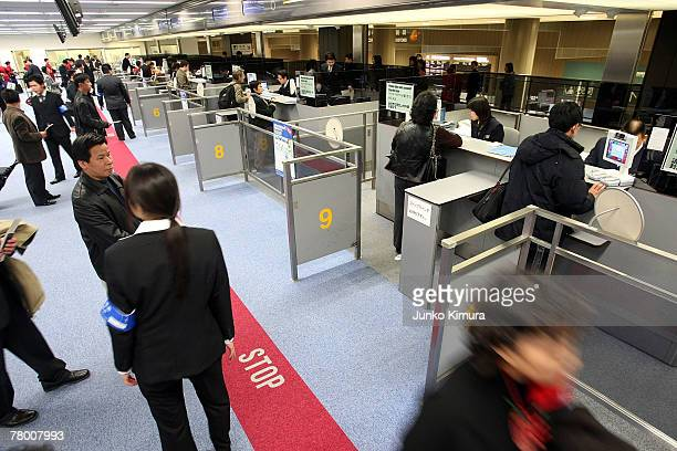 General view of immigration at the new Tokyo International Airport on November 20 2007 in Narita Chiba Japan Japan becomes the second nation after...