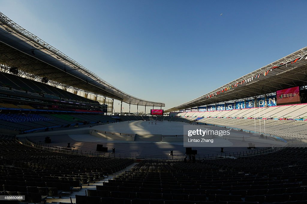 A general view of Incheon main Stadium of the 17th Asian Games on September 18, 2014 in Incheon, South Korea.