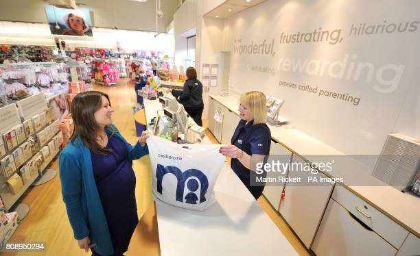 A general view of inside a Mothercare store in Denton Manchester