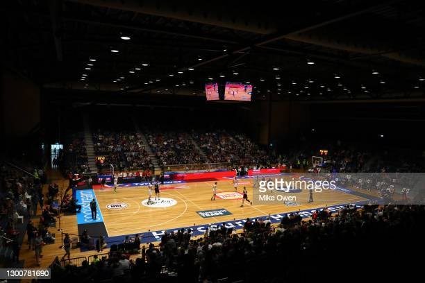 General view of inside Bendigo stadium during the round four NBL match between Melbourne United and the Perth Wildcats at Bendigo Stadium, on...