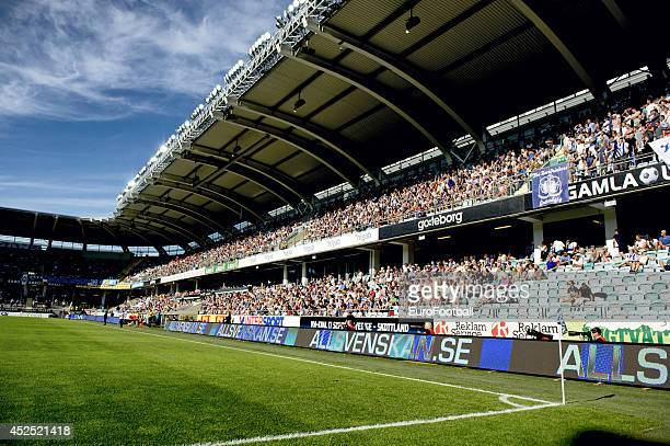 A general view of inside the Gamla Ullevi Stadium before the Swedish Allsvenskan League match between IFK Goteborg and Helsingborg at the Gamla...