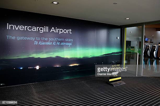A general view of inside the new Invercargill airport terminal on April 14 2016 in Invercargill New Zealand The opening marks the completion of a $13...