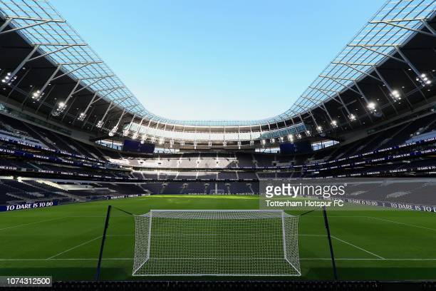 A general view of inside the new stadium during the Tottenham Hotspur New Stadium Fan Event on December 15 2018 in LondonUnited Kingdom