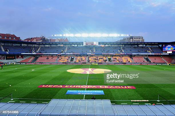 A general view of inside the Stadion Letna before the UEFA Europa League Group I match between AC Sparta Praha and BSC Young Boys at the Stadion...