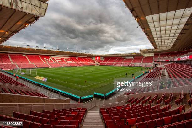 General view of inside the stadium before the Sky Bet Championship match between Middlesbrough and Wigan Athletic at the Riverside Stadium,...