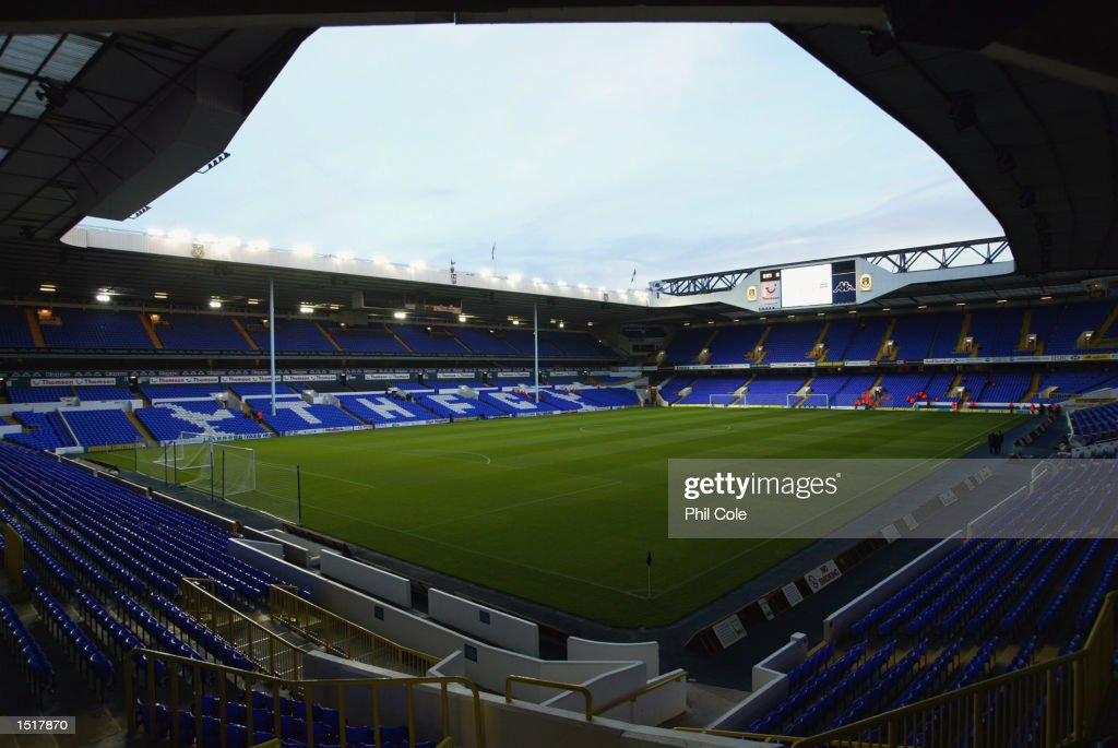 A general view of inside the stadium before the Tottenham Hotspur Tribute match between Tottenham Hotspur and D.C. United at White Hart Lane in London on October 17, 2002.