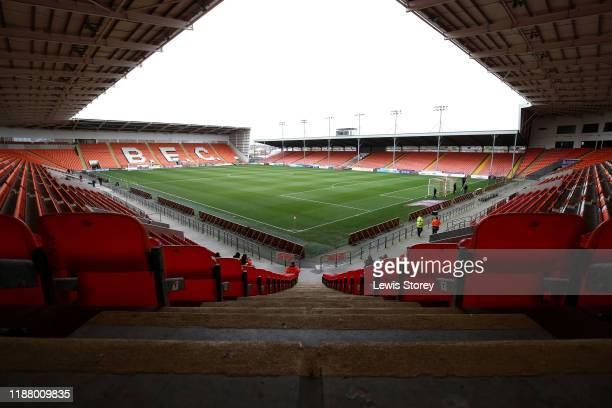 General view of inside the stadium prior to the Sky Bet League One match between Blackpool and AFC Wimbledon at Bloomfield Road on November 16, 2019...
