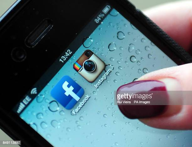 General view of Instagram and Facebook logos on a smartphone Tensions between Twitter and Instagram the photoenhancing social network site have...