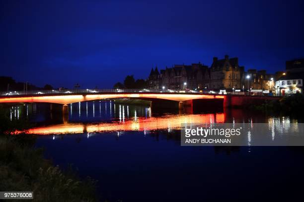 A general view of Inverness is seen near Loch Ness in the Scottish Highlands Scotland on June 10 2018