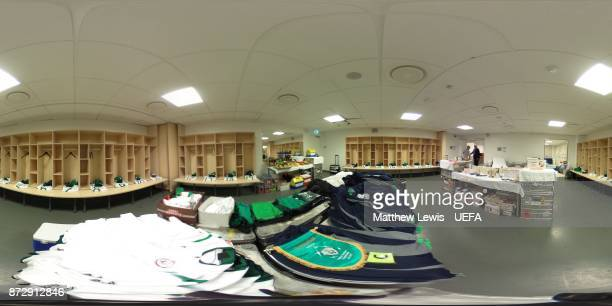 A general view of Ireland's dressing room ahead of the FIFA 2018 World Cup Qualifier PlayOff First Leg between Denmark and Republic of Ireland at...