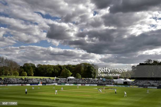 A general view of Ireland's second innings during the third day of the test cricket match between Ireland and Pakistan on May 13 2018 in Malahide...