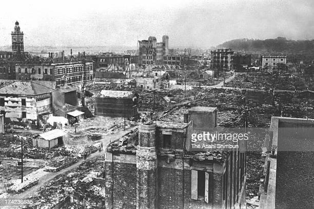 General view of Isezakicho area after the strong earthquake in September 1923 in Yokohama Kanagawa Japan The estimated Magnitude 79 strong earthquake...