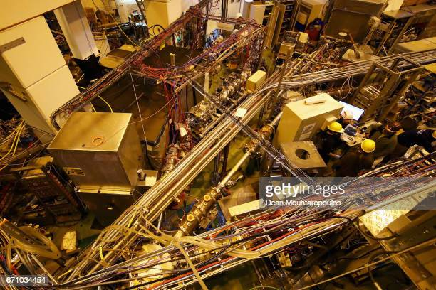 A general view of ISOLDE during a behind the scenes tour at CERN the World's Largest Particle Physics Laboratory on April 19 2017 in Meyrin...