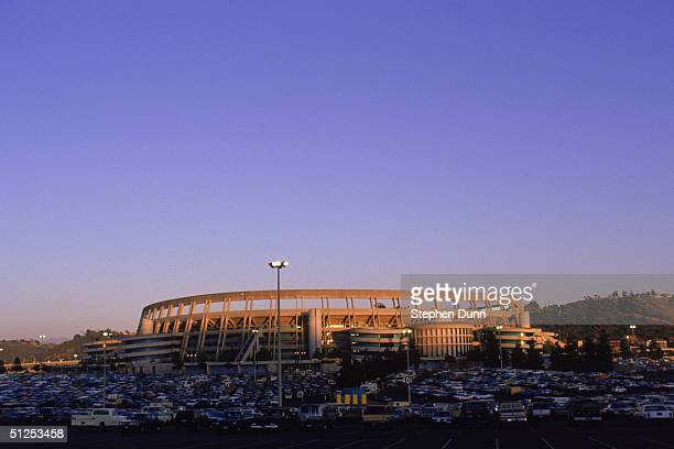 General view of Jack Murphy Stadium home of the San Diego Chargers during a game in 1987 in San Diego California