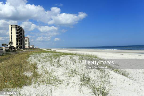 A general view of Jacksonville Beach amid the coronavirus outbreak on March 21 2020 in Jacksonville Beach Florida Jacksonville Mayor Lenny Curry...