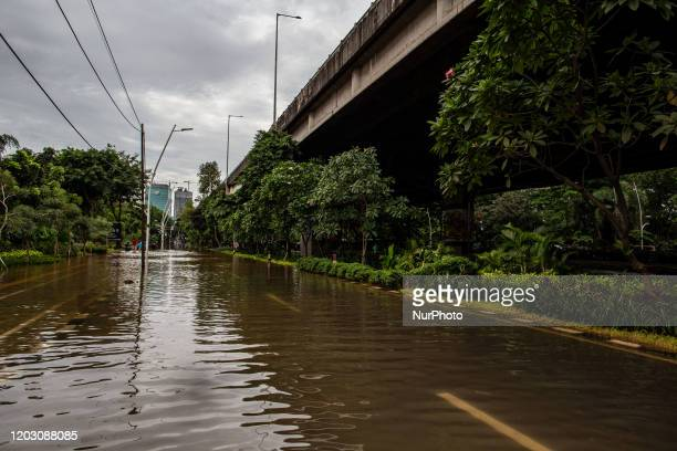 General view of Jakarta, after heavy rains in Jakarta, Indonesia, on February 25, 2020.