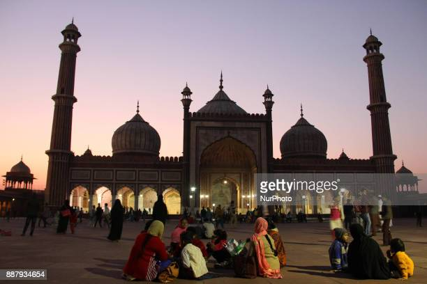 General view of Jama Masjid Old Delhi India Jamia Masjid is one of the largest mosques in Asia Masjidi JahnNum commonly known as the Jama Masjid of...