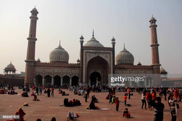 General View Of Jamia Masjid Old Delhi on 10th December 2017