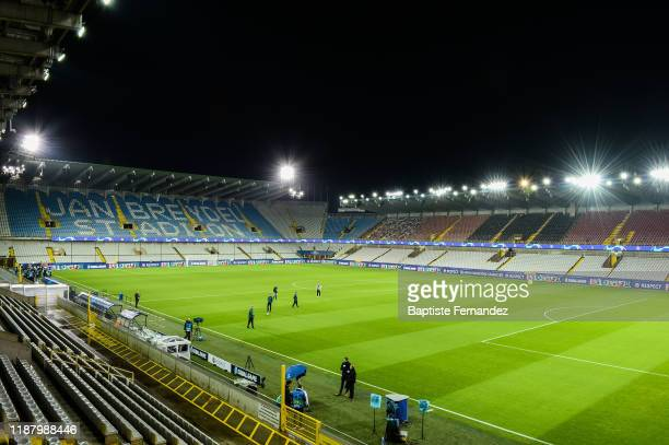 General view of Jan Breydel Stadium before the UEFA Champions League Group A match between Club Brugge and Real Madrid at Jan Breydel Stadium on...