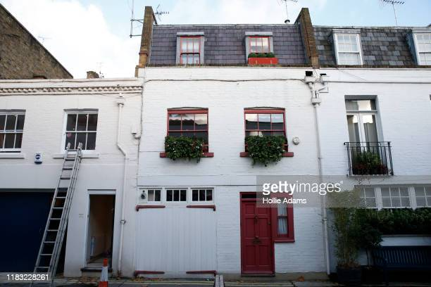 A general view of Jeffrey Epstein Associate Ghislaine Maxwell's Belgravia property on November 18 2019 in London England The property is linked to a...